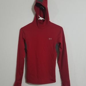Under Armour Boys Small Athletic Hoodie Red